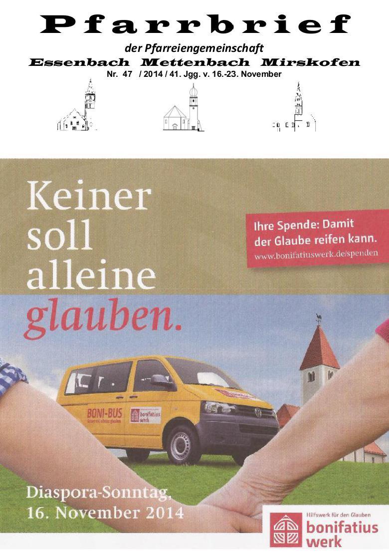 Pfarramt Essenbach Mettenbach Mirskofen